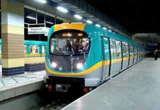 وصول ثاني قطارات صفقة تصنيع وتوريد 32 قطار مكيف للعمل بالخط الثالث للمترو