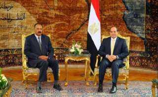 بعد لقاء السيسي.. رئيس إريتريا يغادر القاهرة