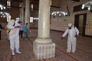الأوقاف تواصل حملة تعقيم المساجد استعدادًا لصلاة الجمعة