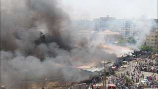 تعرف على الحصيلة النهائية للخسائر بحريق سوق توشكى بحلوان