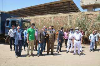 محافظ ومدير أمن القليوبية يشهدان إزالة 10 حالات بناء مخالف بشبرا الخيمة