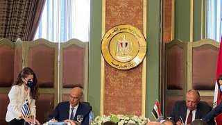 """عاجل.. مصر تعلق علي """"هلاوس """" أردوغان بشأن إتفاقية ترسيم الحدود البحرية مع اليونان"""