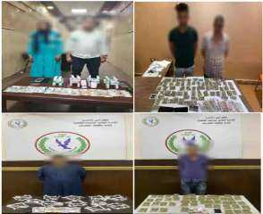 بالصور .. تجار السموم فى قبضة مباحث القاهرة