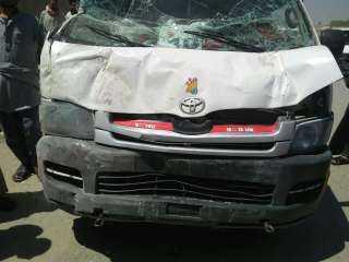 إصابة 11 في شخصا فى حادث انقلاب ميكروباص بالإسماعيلية