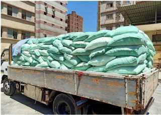 ضبط سيارة نقل مُحملة بـ 9 طن دقيق مدعم قبل بيعه بالسوق السوداء