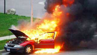 البترول : لا صلة لنا بحادث تفحم السيارات على الطريق الدائرى