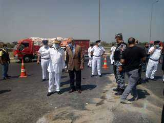 محافظ ومدير أمن القليوبية يتفقدان موقع حادث أسفر عن وفاة 9 وإصابة 6