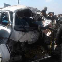 ارتفاع عدد ضحايا حادث ميكروباص الدائري الإقليمي إلى 10 قتلى و6 مصابين