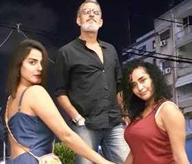 """فراس سعيد برفقة رانيا منصور من كواليس """"أسود فاتح"""""""