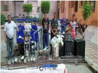 ضبط عصابة تخصصت فى سرقة المواقع تحت الإنشاء بالقاهرة