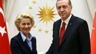 عاجل.. تفاصيل الاتصال الهاتفي بين أردوغان ورئيسة المفوضية الأوروبية