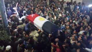 المنوفية تستعد لتشييع جثمان شهيد الواجب فى جنازة عسكرية