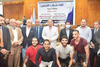 بالصور .. تفاصيل لقاء وزير الشباب ومحافظ أسيوط مع 225 شاب وفتاة