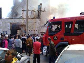 السيطرة على حريق داخل ستاد طنطا
