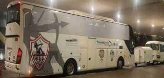 وصول حافلة الزمالك إلي ستاد القاهرة استعدادا لملاقاة الجونة في الدوري