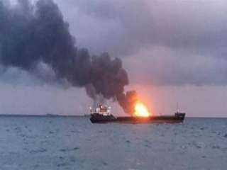 عاجل وخطير.. انفجار ناقلة نفط روسية في بحر آزوف