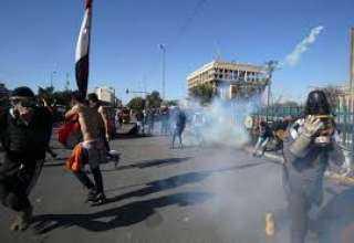 مواجهات بين قوات الأمن والمحتجين في بغداد