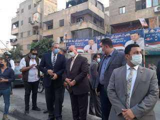 محافظ ومدير أمن القاهرة يتفقدان موقع كسر ماسورة المياه بسكة الوايلي