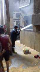 الحماية المدنية بالقاهرة تسيطر على حريق مسجد صقر قريش بالبساتين