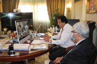وزير التعليم العالى يلتقى عددًا من العلماء المصريين بالجامعات اليابانية