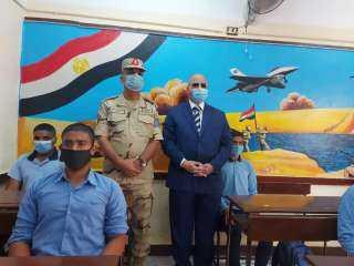محافظ القاهرة واللواء أيمن عبد الفتاح يتفقدان أعمال تجديد مدرسة الشهيد وليد الصادق