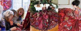 استغرق 10 سنوات وشاركت في تطريزه 202 سيدة حول العالم.. معلومات لا تعرفها عن مشروع الفستان الأحمر