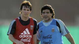 مارادونا يهاجم برشلونة بسبب ميسي
