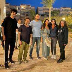 """شاهد.. الفيشاوي وياسمين رئيس ومحمد علاء في كواليس فيلم """"قمر 14"""""""