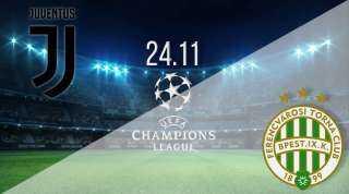 مشاهدة مباراة يوفنتوس و فيرينكفاروسي بث مباشر اليوم 24 / نوفمبر بدوري أبطال أوروبا