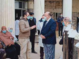 اللواء خالد عبد العال يتفقد مستشفيات حميات و صدر العباسية