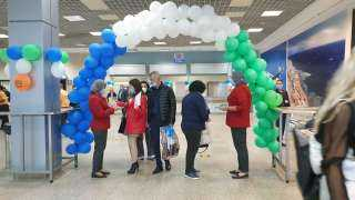 صور.. مطار شرم الشيخ يحتفل بوصول أولى رحلات شركة أير كايرو القادمة من اوزبكستان