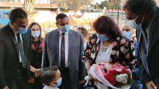 محافظ البحيرة يستقبل وزيرة الثقافة لافتتاح قصر وادي النطرون