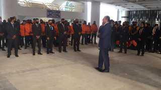 شاهد بالصورة  .. إنتشار رجال الأمن بإستاد القاهرة لتأمين لقاء القمة