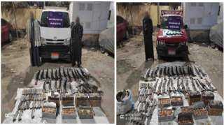 ضبط 49 قطعة سلاح نارى وأكثر من 13 ألف طلقة نارية بحوزة 3 أشخاص بالمنيا