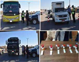 حملات أمنية مُكثفة على الطرق للكشف عن السائقين المتعاطين للمخدرات