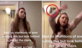 لقطة صادمة ومرعبة.. حكاية الفتاة التى عثرت على شبح في منزلها