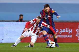 بيلباو يهزم برشلونة ويتوج بالسوبر الإسباني في ليلة طرد ميسي