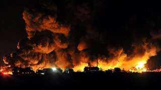انفجار هائل فى شركة غاز.. وأنباء عن وقوع قتلي ومصابين