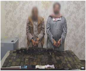 ضبط عنصرين إجراميين وبحوزتهما 150 طربة لمخدر الحشيش بمطروح