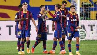 برشلونة يفوز على إشبيلية فى الدورى الإسباني بقيادة ميسي
