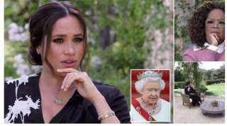 خلال حوارها مع أوبرا وينفري.. ميجان ماركل تفتح النار على العائلة المالكة البريطانية