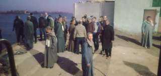 مساعدات عاجلة لضحايا حادث غرق سيارة بنهر النيل بمركز صدفا