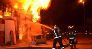 قوات الحماية المدنية تنجح فى السيطرة على حريق هائل أعلى أحد فنادق طنطا