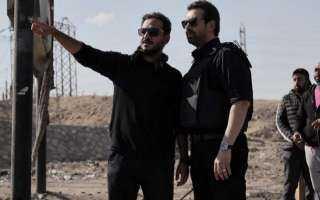 """صورة.. كريم عبد العزيز وبيتر ميمي في كواليس مسلسل """"الاختيار 2"""""""