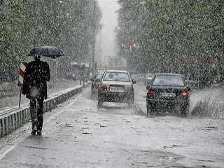 سقوط أمطار غزيرة على الطائف السعودية