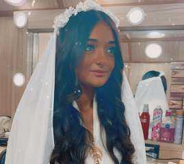 """ملك أحمد زاهر بفستان الزفاف من كواليس """"نسل الأغراب """""""