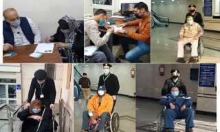 بالصور .. الجوازات تسهل إجراءاتها لكبار السن والمرضى للحصول على الخدمات الشرطية