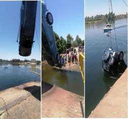 شرطة البيئة والمسطحات تنقذ 3 أشخاص عقب سقوط سيارتهم بنهر النيل بالأقصر
