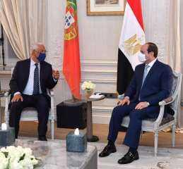 السيسى يبحث مع رئيس وزراء البرتغال تفعيل أطر التعاون المشترك