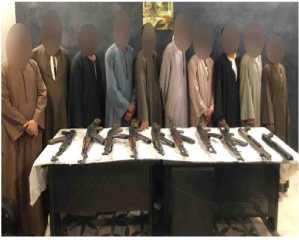 الأجهزة الأمنية بأسيوط تنجح فى ضبط 10 أشخاص وبحوزتهم أسلحة نارية